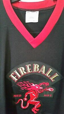 Mens Fireball Whisky Hockey Jersey XL Embroidered Details Whiskey SUPER RARE