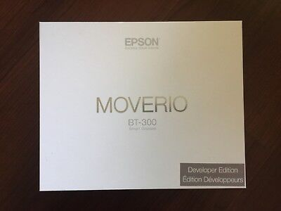 Epson Moverio BT-300 Smart Glasses Developer Edition USED ONCE