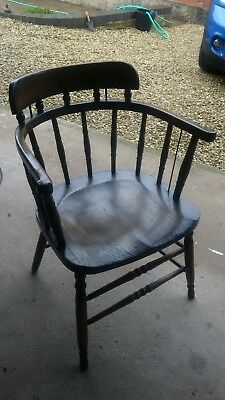 Antique Canadian smokers bow/ captiains chair armchair - for mending
