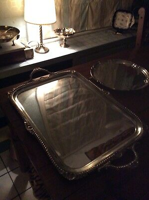 Solid English Silver Butlers Tray . 4.600kgs