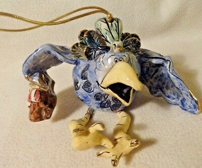 Blue Sky Large Flying South Hanging Bird Figurine Heather Goldminc Goldmine EUC
