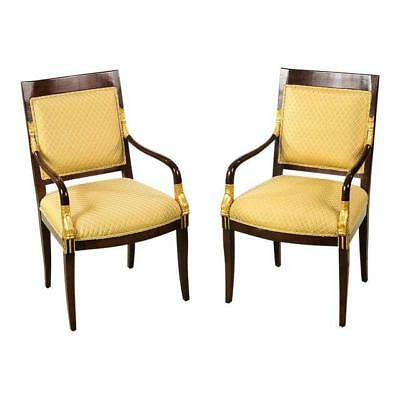 French Empire Mahogany Chairs -A pair
