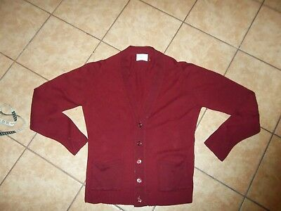 vintage 50s 60s fully fashioned cashemere made in usa cardigan sweater men sz M