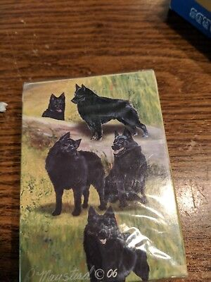 Unopened Deck Of Playing Cards Schipperkes Dogs by Ruth Maystead New