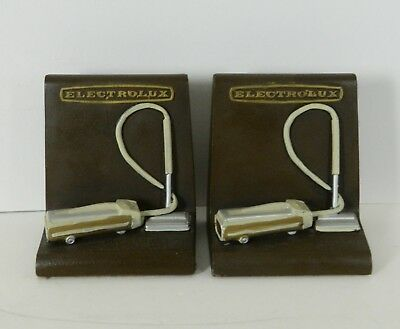 Vintage Electrolux Vacuum Cleaner Bookends 1960's Chalkware