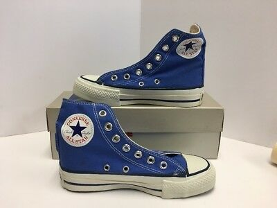 Vintage 70's Converse Chuck Taylor All Star Bright Blue Hi's 1.5 ORIGINAL NEW!