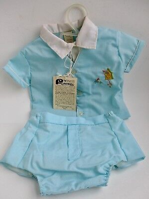 VTG UNWORN with Tags by Signature Birth to 3 Months Never Iron 2 Piece Suit Set
