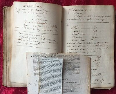 RARE MEDICINAL FORMULAS MANUSCRIPT BOOK 1870's/80's by DR. HORACE K. WILLARD