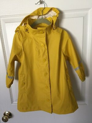 Holly And Whyte Raincoat Yellow 2T - 3T Boy Girl Unisex Hood