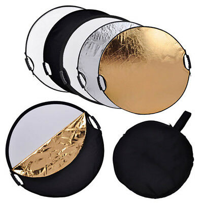 """110cm 43"""" Photography Studio 5 in 1 Collapsible Multi Light Reflector"""