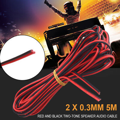 Durable Electric Cable Copper Wire Extension Car Speaker Cord 0.3mm 5m Premium