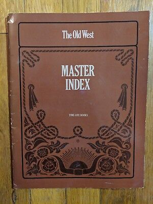 Vintage 1980 MASTER INDEX for THE OLD WEST Series by Time-Life Books FIRST PRINT
