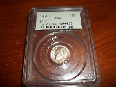 1964-D Silver Dime PCGS  MS64 Sample Rattler WITH RIM ADDED