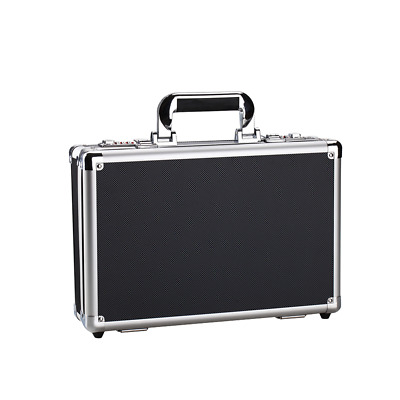 Black Aluminum Hard Briefcase Metal Frame Small Tool Box Business File Case