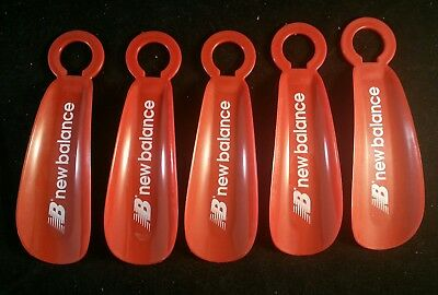 New Balance 5 Lot Red Plastic Shoehorn Shoe Horn Sneaker Heavy-Duty Travel Adv