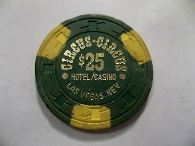 CIRCUS CIRCUS *Damaged* 25 $ Casino Poker Chip Las Vegas NV