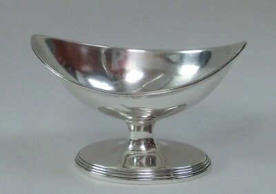 Lovely English Silver Navette Form Salt Cellar - Walter Brind, 1810 London
