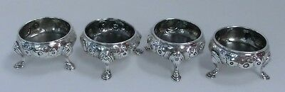 Set of 4 Georgian Silver Salt Cellars - 1764/74 London - David Hennell