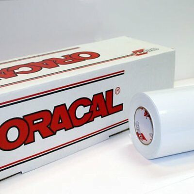 "24"" X 10 Ft Roll Of Oracal 651 Matte White Vinyl For Craft Cutters And Sign"