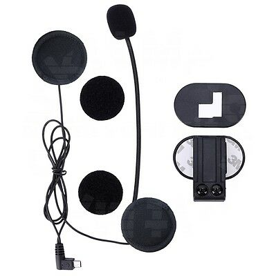 Mic/Speaker Headset +Clip for Motorcycle Bluetooth Helmet Interphone Intercom V2