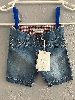 Country Road Baby Boys Denim Crinkle Shorts BNWT Size 3-6m