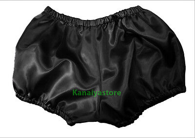 Black Satin Pants Pantaloons Sissy Maid Adult Baby Fits With Underwear