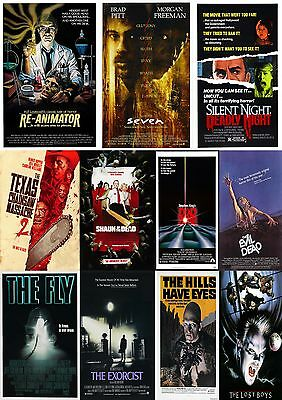 Horror Movie Poster Collection 3/Wall Art:Laminated:A4:!!Buy 2 Get 3 FREE!!