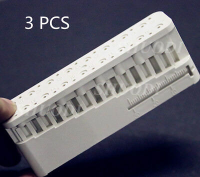 3 PCS Dental Endo Measuring Block Autoclavable Endodontic File Holder Ruler Tool