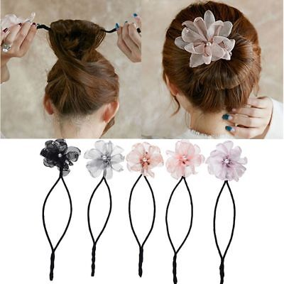 Women Flower Hair Style Sponge Quick Bun Maker Braid Tooling Hair's Headdress