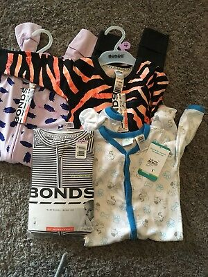 Bonds And Disney Baby Size 0 BNWT Bundle Times 4 Items Rrp 90+
