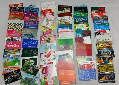 Gift Cards Bulk Lot Toys R Us Target Borders Bunnings Village No Monetary Value