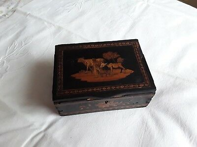 Antique Marquetry Box. Looks very old. Georgian?Victorian?