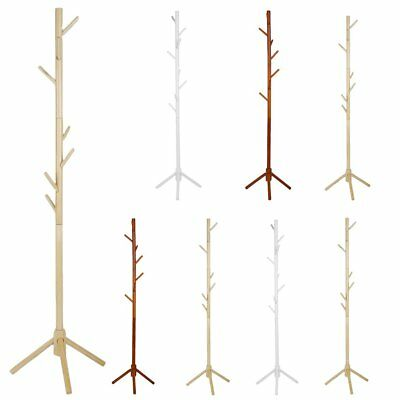 Tree Style Coat Stand 8 Hooks Multi Coat Hat Rack Bag Rack Tree Style Wooden DP