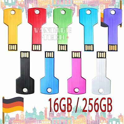 16GB  256GB USB 2.0 Metall i Flash Drive Memoire Speicherstick Für PC Notebook