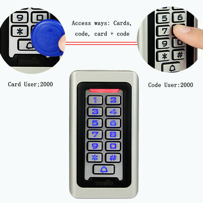 New Waterproof Keypad Standalone Door Access Control Home Gate Entry Controller