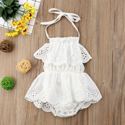 Newborn Baby Girl Romper Lace Floral Jumpsuit Outfits Flower Summer Clothes USA