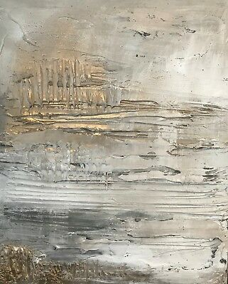 Original heavily textured canvas painting by Kerry Bowler artist. Gold canvas