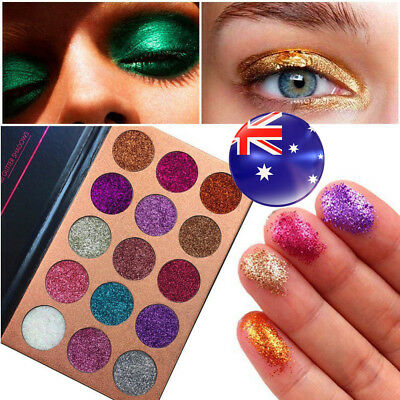 18/35 Colors Shimmer Matte Eyeshadow Eye Shadow Makeup Palette Glitter Cosmetic