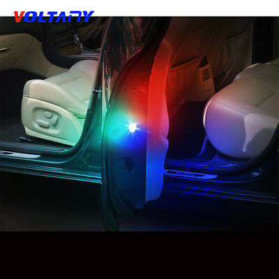 2*Universal Car Door LED Opened Warning Flash Light Kit Wireless Anti-collid New