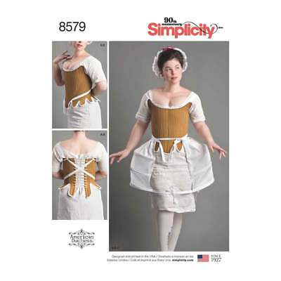 18th Century Undergarments   Simplicity Sewing Pattern 8579
