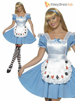 CL446 Deck of Cards Girl Adult Alice In Wonderland Fancy Dress Up Party Costume