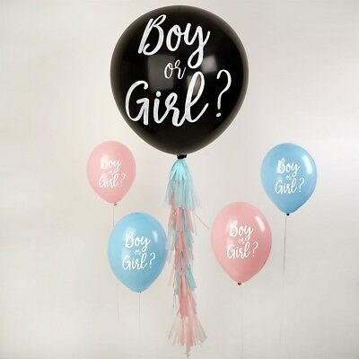 Boy or Girl Gender Reveal - Balloon Kit or Pink and Blue Balloon Decorations
