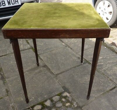 Edwardian folding card table needs some TLC