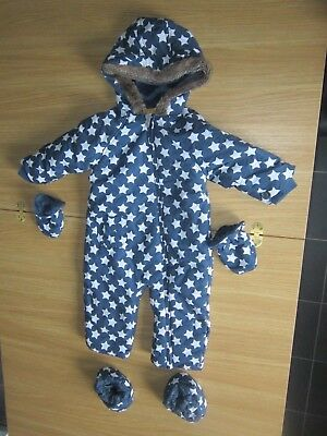 TU Stars Pram Suit (with button on gloves and booties) 18 - 24 Months