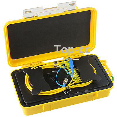 Fiber Optic OTDR Launch Cable Box 1km SM 1310/1550nm Fiber Rings SC/UPC-FC/UPC