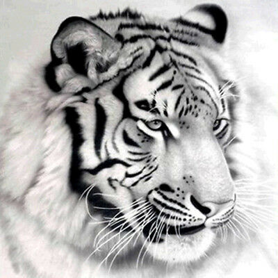 5D Tiger DIY Tier Diamant Malerei Stickerei Diamond Painting Kreuzstich Handwerk