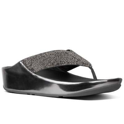 592b9b824 NEW IN BOX Womens Fitflop Halo Toe Thong I42-001 Black Leather ...