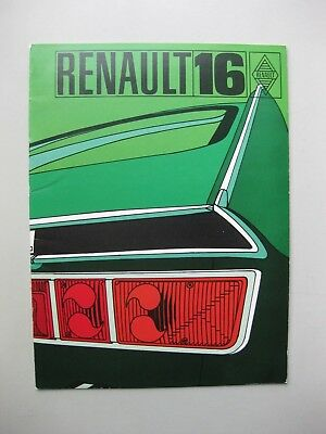 Renault 16 16TS prestige depliant brochure Dutch text 20 pages 1971