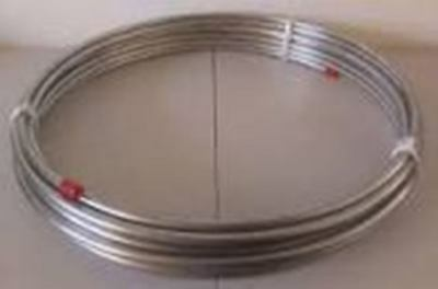 """.250 OD Stainless Steel 316 Coiled Round Tube 1/4"""" OD .048"""" Wall 100 Feet USA"""