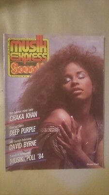 Musik Express Sounds 1985 Nr. 2 (Chaka Khan, Deep Purple, Die Ärzte, Spliff)